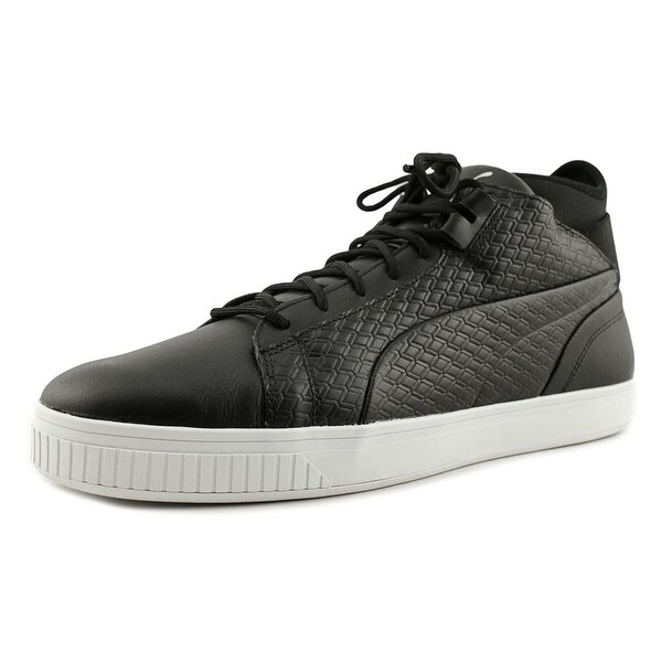Puma Play B&W Men Round Toe Leather Black Basketball Shoe