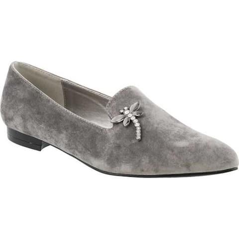 Bellini Women's Dragonfly Flat Loafer Grey Velvet