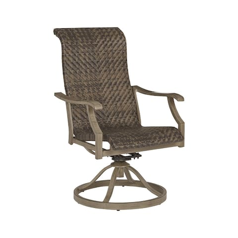 Windon Barn Outdoor Swivel Chair - Set of 2 - Brown - N/A
