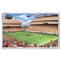 """Pack of 6 Owner's Box Insta-View Football Theme Wall Decoration 64"""" - Red"""