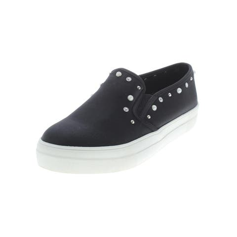 Material Girl Womens Grace Casual Shoes Sateen Embellished