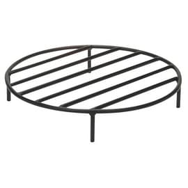 Round Steel Outdoor Fire Pit Wood Grate by Sunnydaze Decor