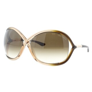 Tom Ford Whitney TF 9 74F Brown Rose Gradient Women's Soft Square Sunglasses - transparent brown rose ombre - 64mm-14mm-110mm