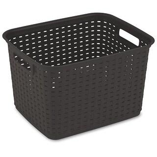 Sterilite 12736P06 Espresso Tall Weave Basket, Plastic
