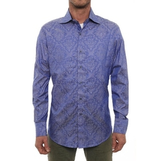 Robert Graham Dragonfly Long Sleeve Collared Neck Casual Button Down
