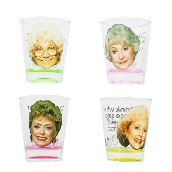 Golden Girls Shot Glasses, Set of 4 Perfect for the Golden Girls Drinking Game - Multi