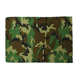 Camouflage Printed Deluxe Square Pet Dog Bed - Medium