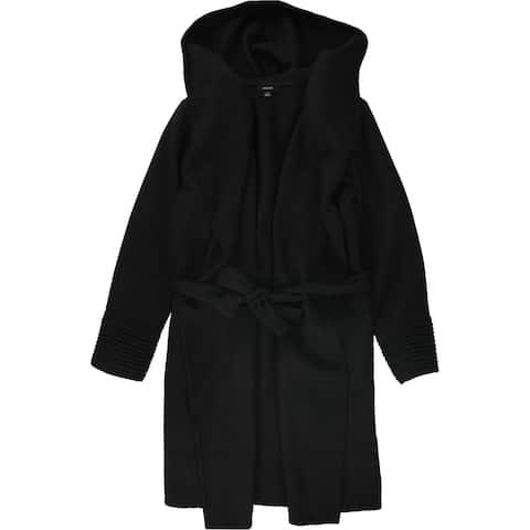 Alfani Womens Drape-Front Hooded Jacket