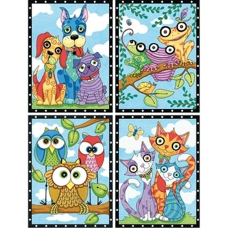 """Paint Works Paint By Number Kit 9""""X12""""-Animal Trios"""