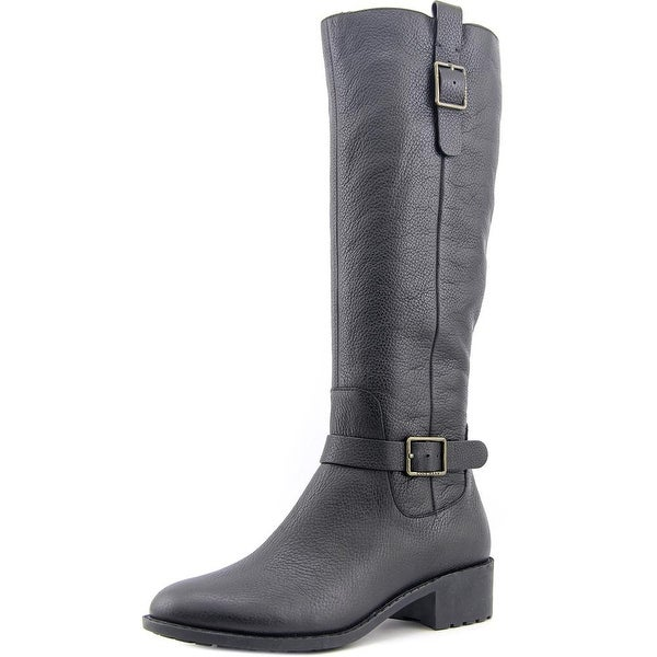 Cole Haan Kenmare Boot Women  Round Toe Leather Black Knee High Boot