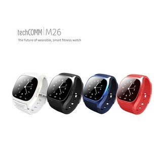 TechComm M26 Smartwatch with Bluetooth, Fitness Tracker, Barometer, Stopwatch, Pedometer, Remote Camera and Loss Prevention