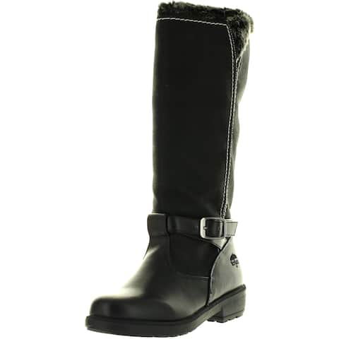 Totes Womens Margie Popular Waterproof Fashion Snow Boots - Black