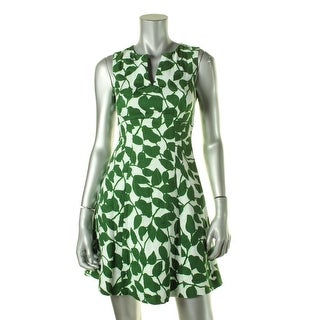 Kate Spade Womens Printed Sleeveless Wear to Work Dress - 0