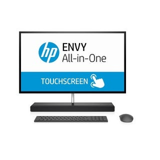 "HP ENVY 27-b111 27"" UHD Touch Screen, Core i7-7700T, 256GB SSD,1TB HD All-in-One Refurbished - Black"