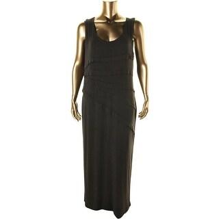 Lysse Womens Plus Modal Blend Tiered Maxi Dress