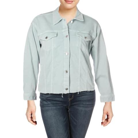 Lauren Ralph Lauren Womens Plus Radlee Denim Jacket Spring Casual - English Blue - 2X