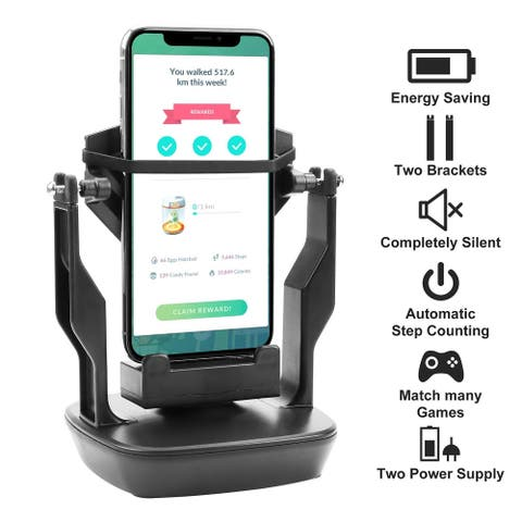 Phone Shaker Wiggle Holder for Pokemon Go Automatic Step Earning Swing Device