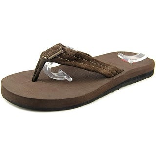 Quiksilver Carver Men Open Toe Suede Brown Thong Sandal