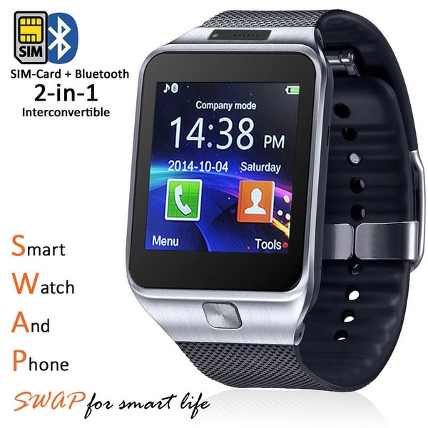 Indigi® HOT 2-in-1 SmartWatch & Phone - [Call/Text Reminder - Bluetooth 4.0 - Built-In Camera] + 32gb SD