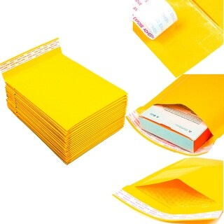 250pcs #0 6 x 10 Poly Paper Padded Bubble Envelopes Self Seal Mailers Shipping Bags - 6'' x 10'' (#0)