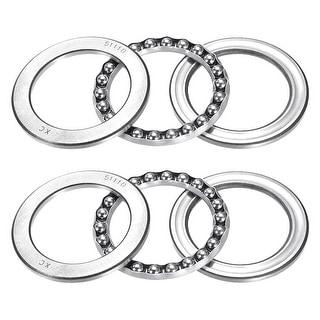 51110 Single Direction Thrust Ball Bearings Flat Seat Chromium,50x70x14mm 2pcs - 1 Pack - 51100 (10*24*9)