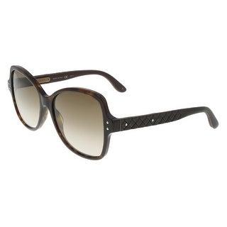 Bottega Veneta BV0045/S 004 Havana - Brown Square Sunglasses