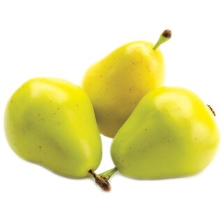 Design It Simple Decorative Fruit 9/Pkg-Yellow & Green Pears - Yellow