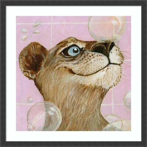Bubbles - Ann (Cougar) by Dlynn Roll Framed Wall Art Print