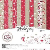 """Simply Love - Elizabeth Craft Modascrap Paper Pack 6""""X6"""" 12/Pkg"""