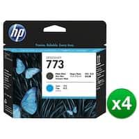 HP 773 Matte Black & Cyan DesignJet Printhead (C1Q20A) (4-Pack)