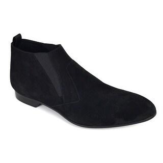 Prada Men's Black Suede Slip On Low Heel Elegance Loafers
