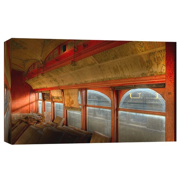 """PTM Images 9-101986 PTM Canvas Collection 8"""" x 10"""" - """"Interior 1, Trolley 1911"""" Giclee Transportation Art Print on Canvas"""