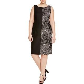 Lafayette 148 Womens Plus Wear to Work Dress Woven Pattern