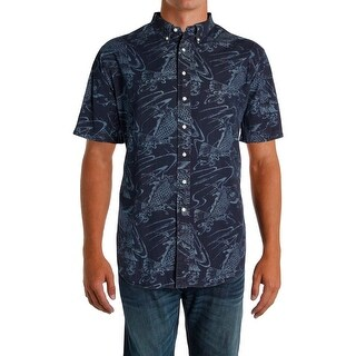 Ralph Lauren Mens Big & Tall Casual Shirt Printed Classic Fit - 2lt