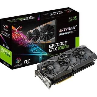 Asus ROG GeForce GTX 1080 TI 11GB OC Edition VR Ready 5K HD Gaming Graphics Card - Black