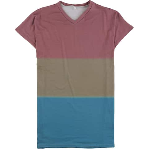 Tags Weekly Womens Colorblock Basic T-Shirt, Multicoloured, Large