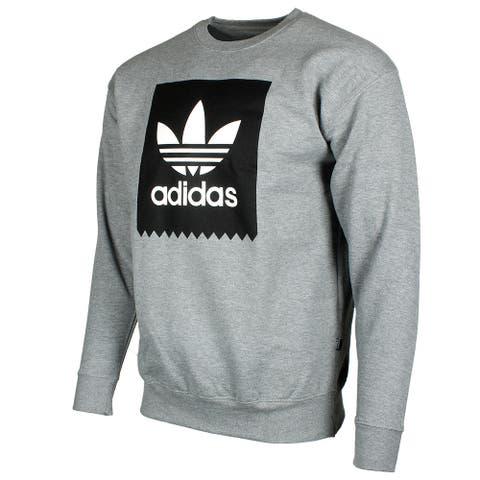 Adidas Originals Men's Trefoil Blackbird Logo Fleece Crew Neck Sweatshirt