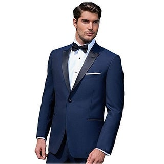 Ike Behar Midnight Blue Tuxedo With Black Peak Lapel