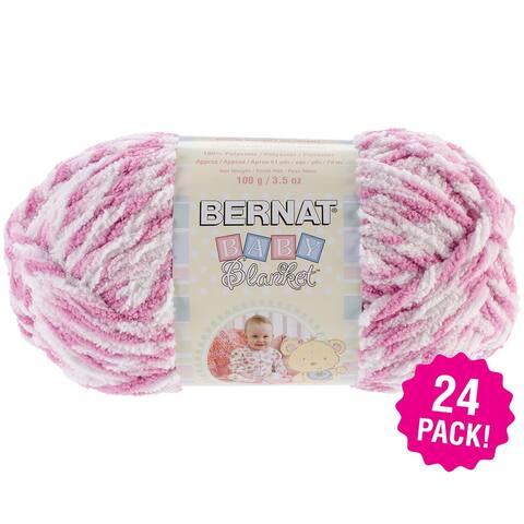 Bernat Baby Blanket Twists - 24/Pk-Pink Twist - Pink