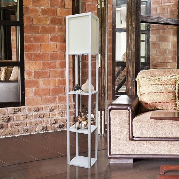 Simple Designs Floor Lamp Etagere Organizer Storage Shelf. Opens flyout.