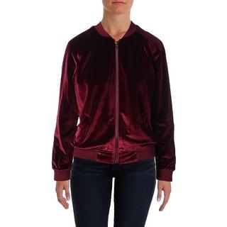 Aqua Womens Bomber Jacket Velvet Lined