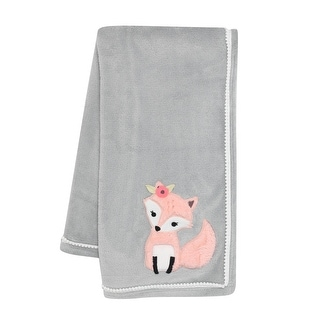 Link to Lambs & Ivy Friendship Tree Gray/Pink Woodland Fox Baby Blanket Similar Items in Baby Blankets