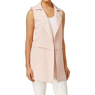 Calvin Klein Womens Casual Vest Open Front Long