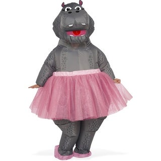 Adult Inflatable Hippo Ballerina Fantasia Costume - standard - one size