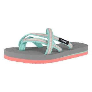 Teva Girls olowahu Slip On Thong Flip Flops