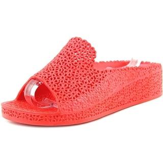 Jeffrey Campbell Fling Women  Open Toe Synthetic Red Wedge Sandal