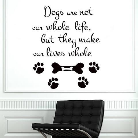 Dog Wall Decals Grooming Vinyl Sticker Vet Shop Decal Grooming Sticker Pet Shop Decal Animal Wall Art Home Decor