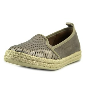 Clarks Azella Major Women Round Toe Leather Gold Espadrille