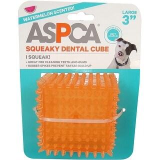 "Orange - ASPCA 3"" Squeaky Dental Cube Dog Toy"