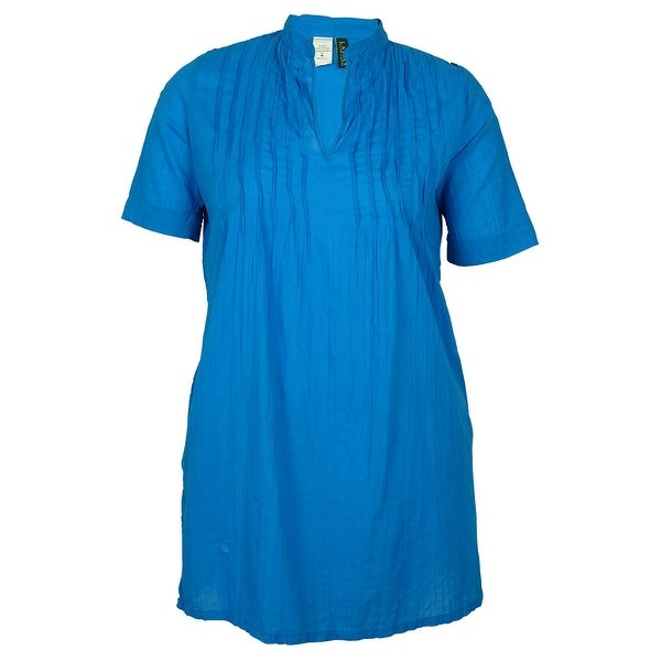 Ralph Lauren Women  x27 s Short Sleeves Vneck Cover ups - Turquoise - md de298951c6